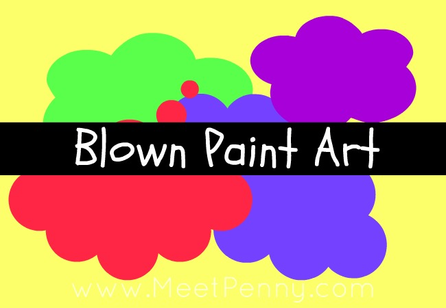 Activity for Bored Kids: Blown-Paint Art