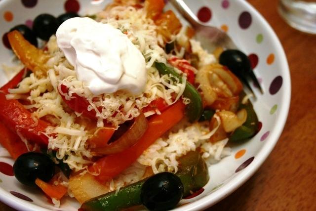 Beans & Rice: Fajita Bowls