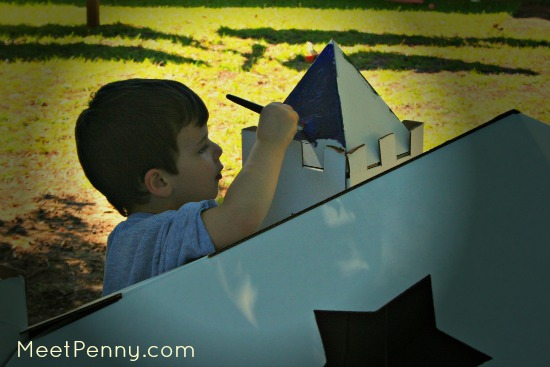 making a cardboard castle and additional castle unit study resources