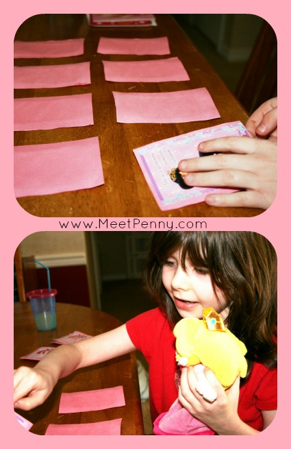 Great use for leftover Valentine's Day cards. Make a matching game.