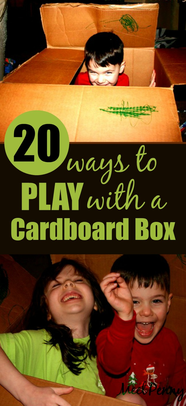20 Ways to Play with a Cardboard Box