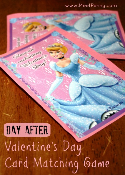 Leftover Valentine's Cards Matching