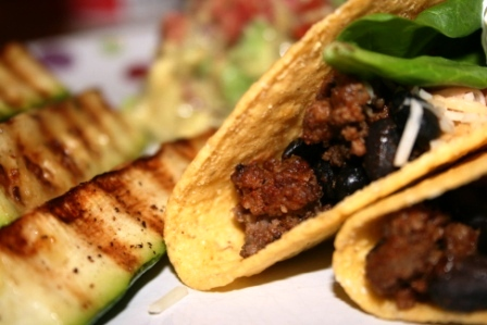 RECIPE: Beef & Bean Tacos with Grilled Zucchini