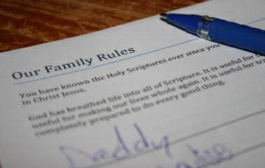 Our Family Rules Discipline Chart