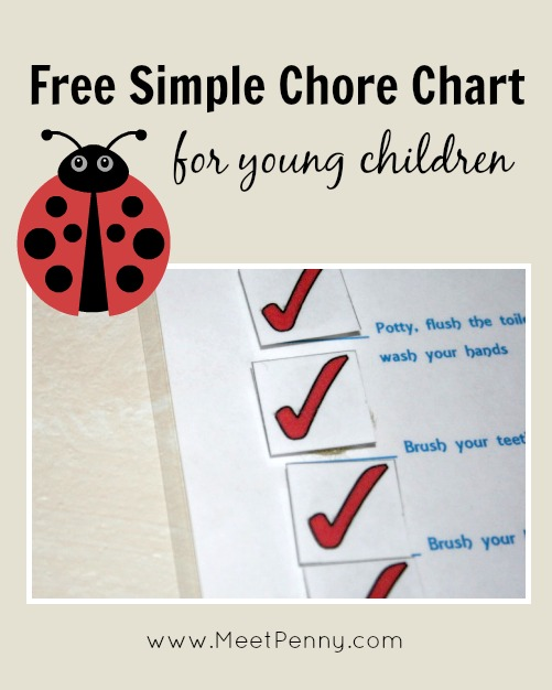 A Chore Chart for Young Children