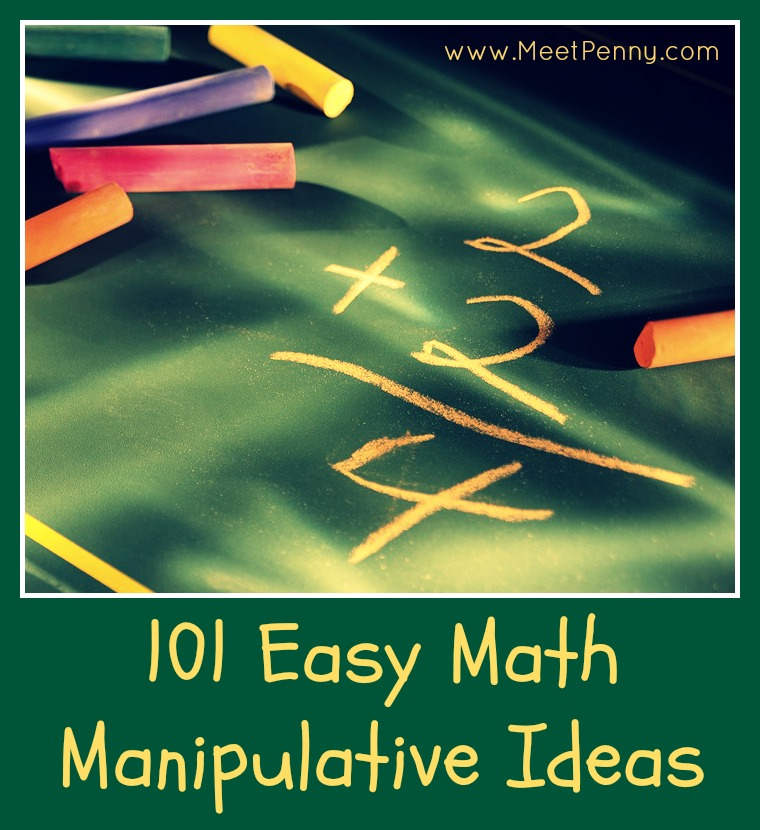 101 math manipulative ideas - most of these you probably already have in your home!