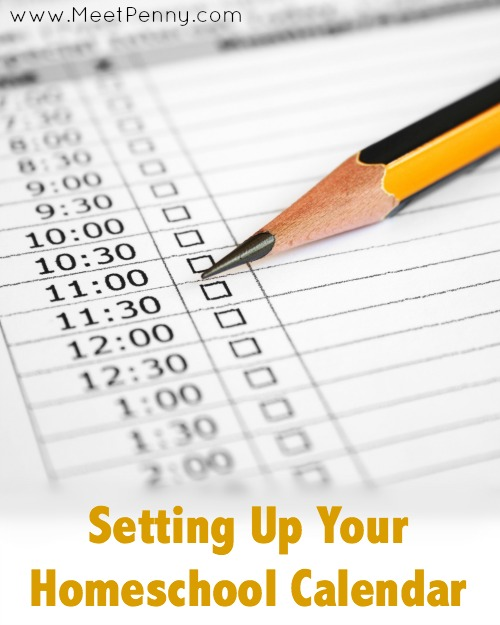 Blueprints: Setting Up Your Homeschool Calendar