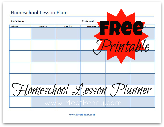 Blueprints: Organizing Your Homeschool Lesson Plans