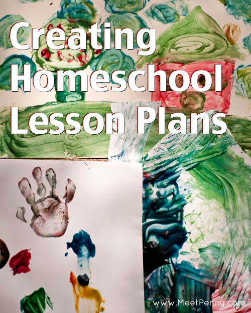 Tips for making homeschool lesson plans and a free printable planner