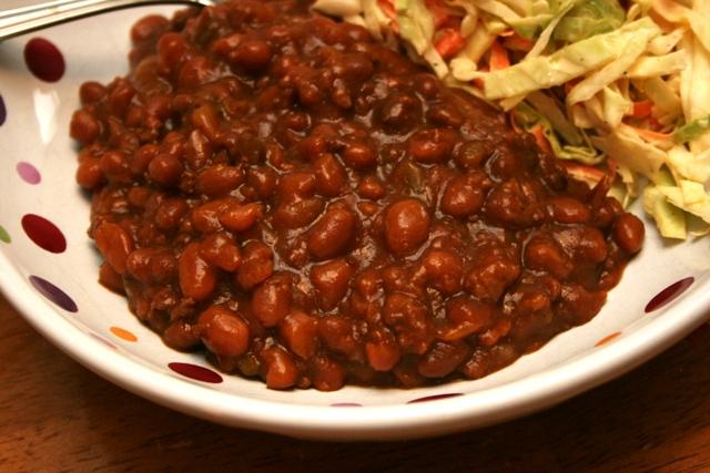 Beefy Crock Pot Baked Beans - Meet Penny