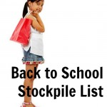 Back to School shopping means time to stockpile these important items!