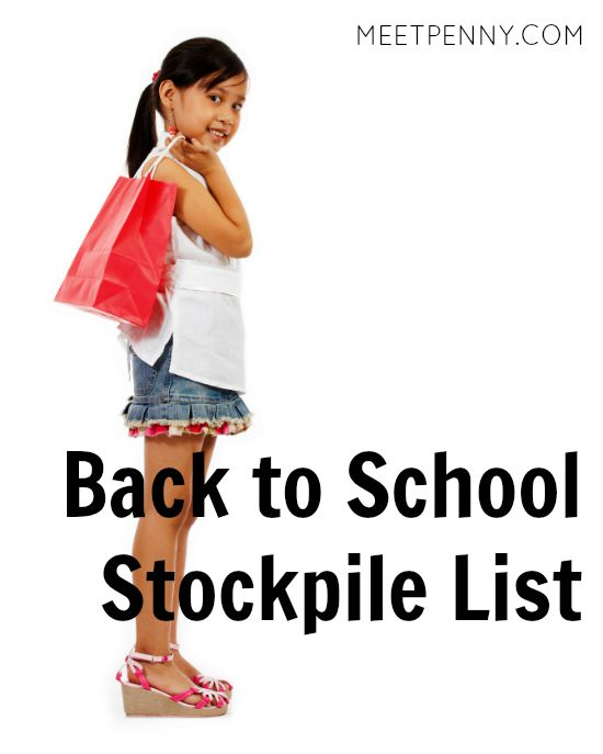 What to Add to Your Stockpile ~ Back to School Edition