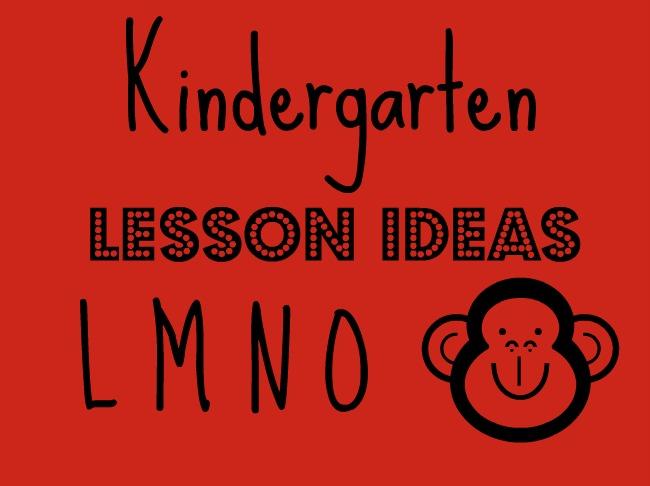 Kindergarten Workboxes: Week Five (Letter L, M, N, O)