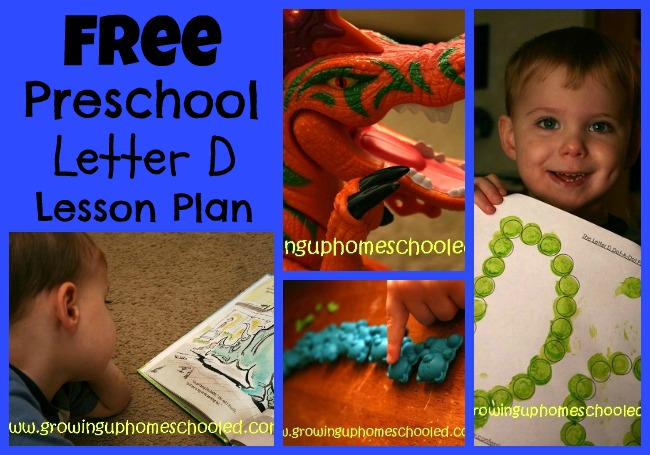 Preschool Workboxes: D is for Duck & Dinosaur