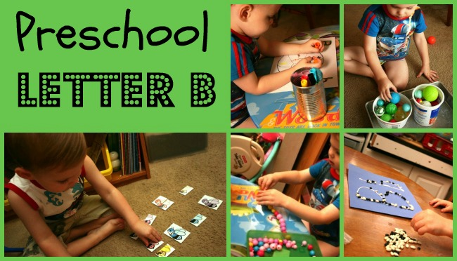 Preschool Workboxes: B is for Bugs, Beans, Balls and More!