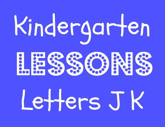 Kindergarten Workboxes: Week Four (Letter J & K)