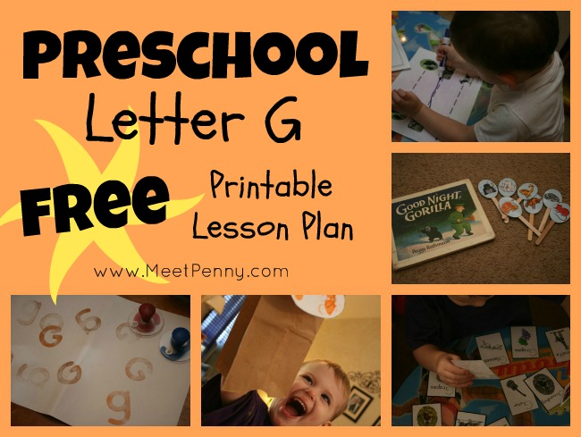 Preschool Workboxes: G is for Gorilla, Goat and More