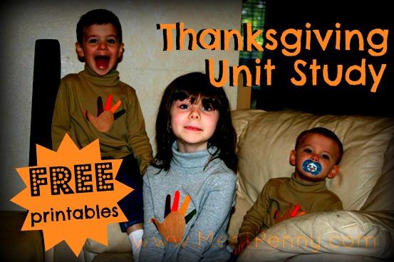 Free Thanksgiving Unit Study Lesson Plan and Printables