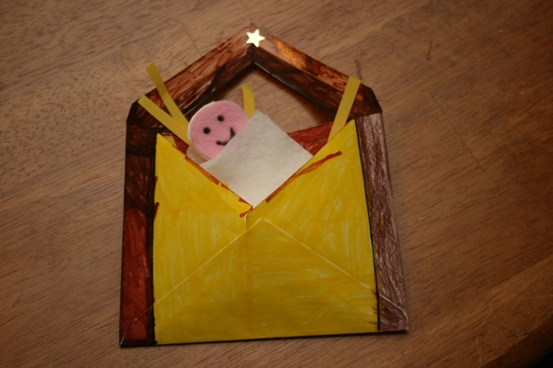A nativity envelope craft for role play meet penny for Nativity crafts to make