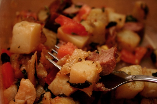 RECIPE: Potato Kielbasa Hash