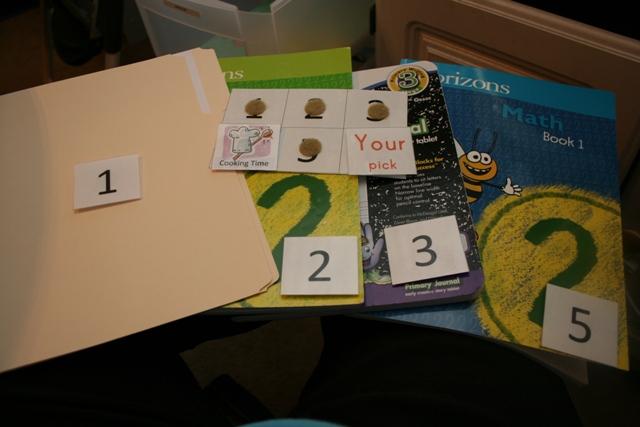 how to plan homeschool workboxes