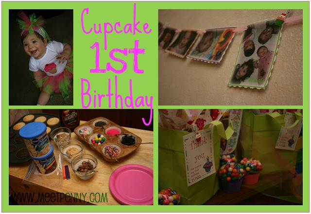 Cupcake Themed 1st Birthday Party