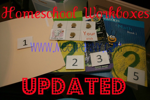 Our Homeschool Workboxes Updated