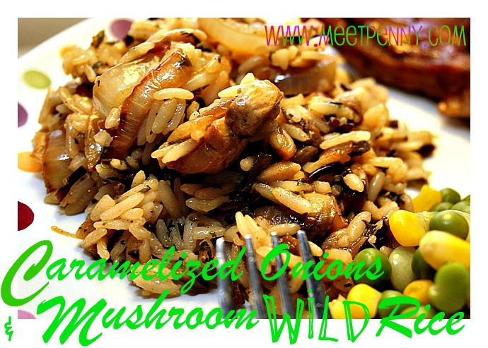 RECIPE: Caramelized Onions & Mushroom Wild Rice