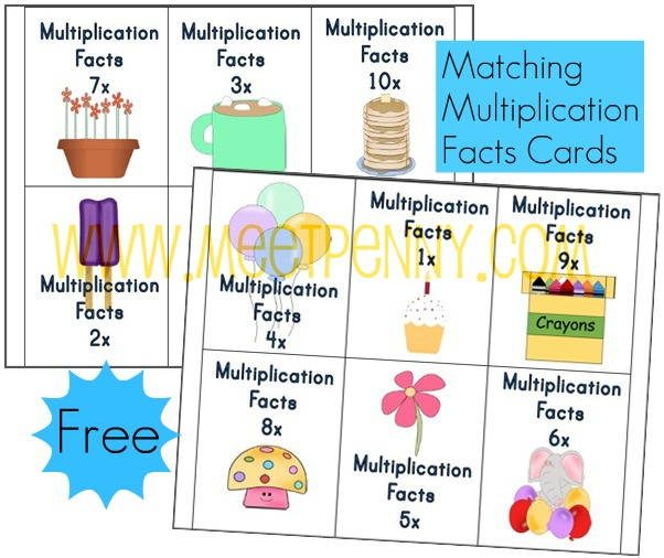 Free Multiplication Worksheets Fact Cards with Visual Cues – Understanding Multiplication Worksheets