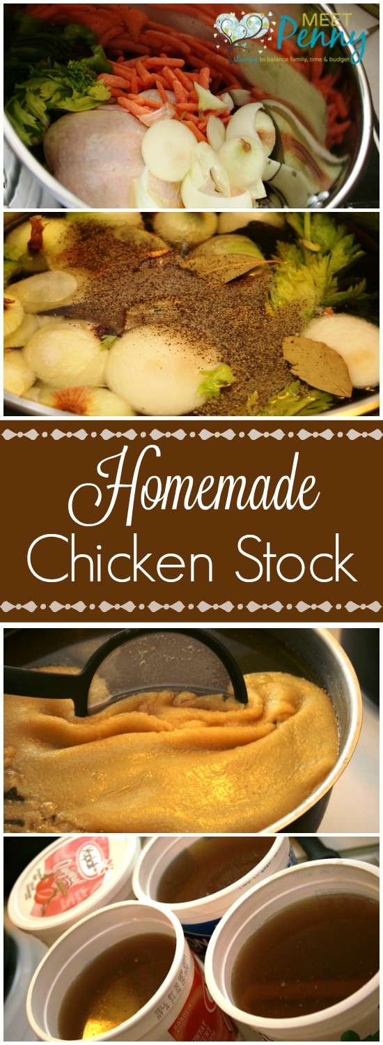 Making homemade chicken stock is simple and costs nothing extra unlike the cartons of stock that can be VERY expensive.