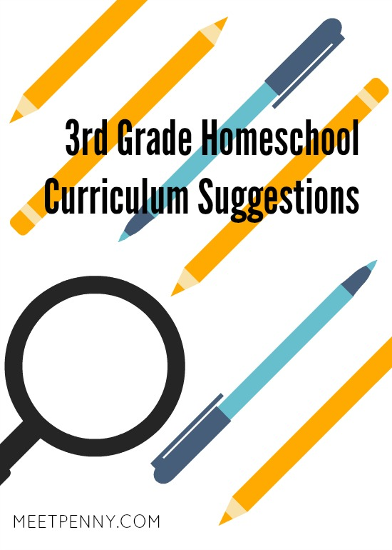 Click to view our 3rd Grade Homeschool Curriculum suggestions