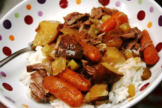 crockery cooking irish stew