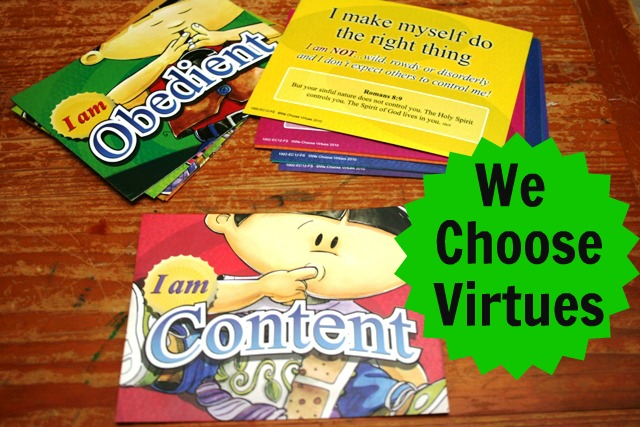 We Choose Virtues Virtue Flash Cards Review (& Giveaway)