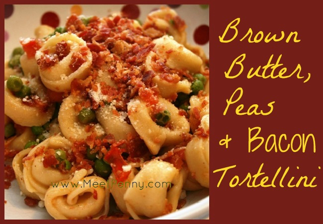 RECIPE: Brown Butter, Peas & Bacon Tortellini