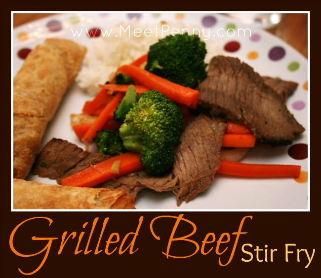 5 Days of Oven Free Meals: Grilled Beef with Vegetable Stir Fry
