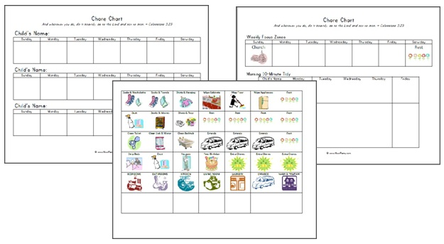 Back to School Chore Chart