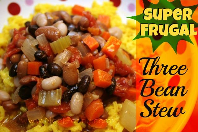 So~Frugal Three Bean Stew