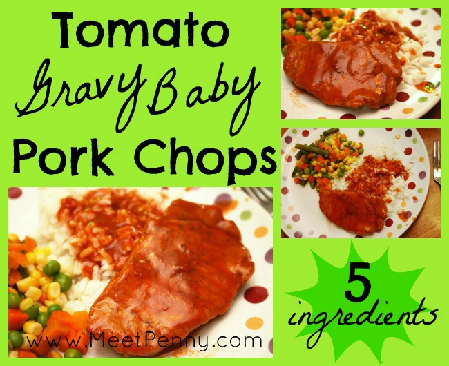 5 Days of Oven-Free Meals: Pork Chops in Tomato Gravy