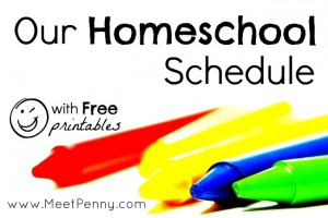 suggested routine for homeschooling day