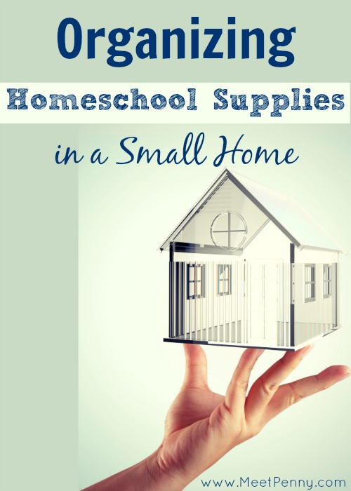 Interesting ways to organize homeschool curriculum, art supplies, educational games and more when you live in a small space.