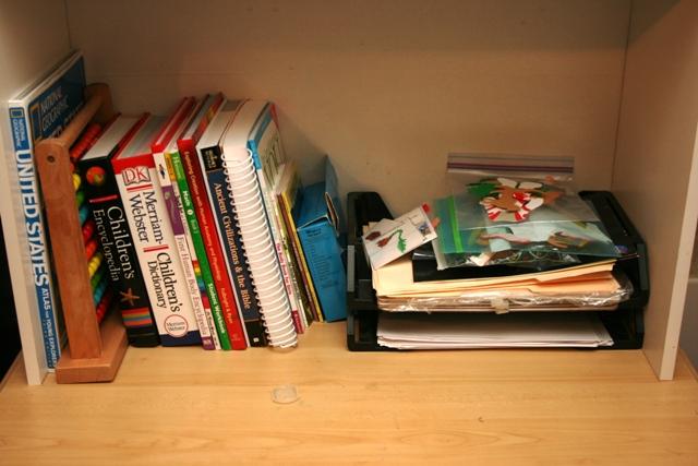 where to keep homeschool curriculum