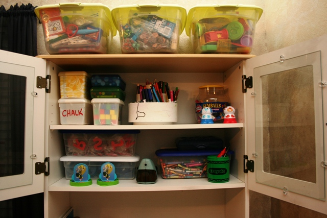 organizing a homeschool in small space
