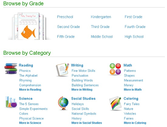 free printable education worksheets workbooks home school homeschool