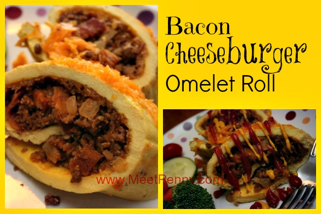 RECIPE: Bacon Cheeseburger Omelet Roll
