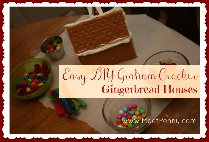 Homemade Holiday: Easy DIY Graham Cracker Gingerbread Houses