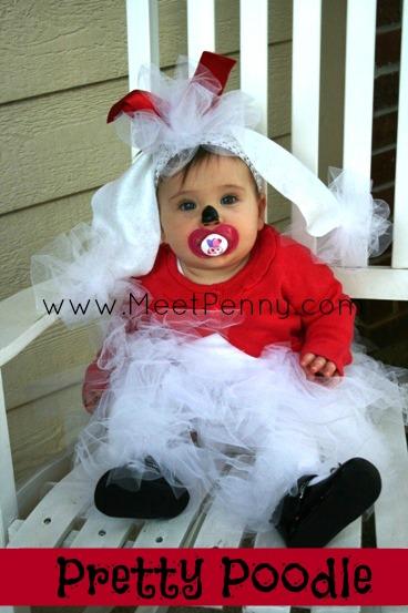 homemade poodle baby halloween costume