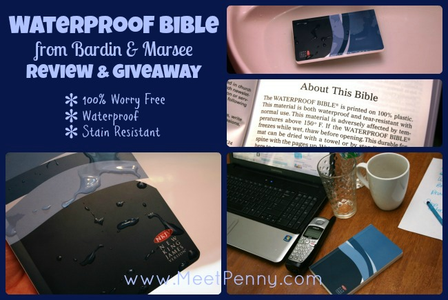 Waterproof Bible Review & Giveaway