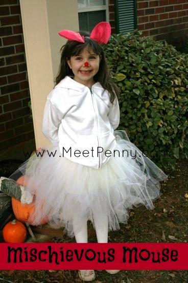 easy tulle tutu mouse halloween costume idea