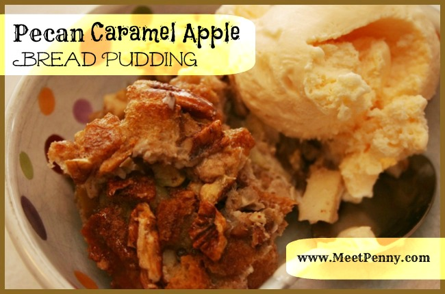 RECIPE: Pecan Caramel Apple Bread Pudding