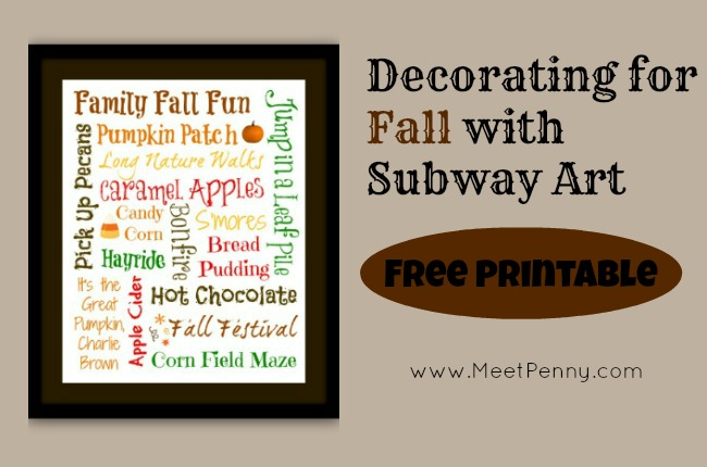 Homemade Holiday: Decorating for Fall with Subway Art